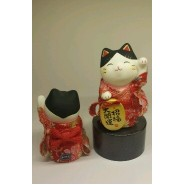Lucky Cat with Red Kimono